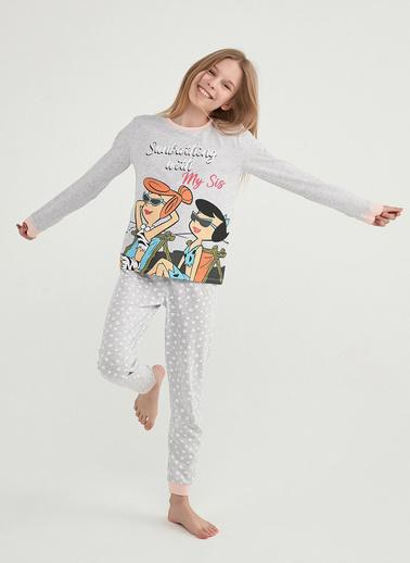 Penti Çok Renkli Kız Çocuk  Lıc Flınstones Ls 2Li Pijama Takımı Renkli